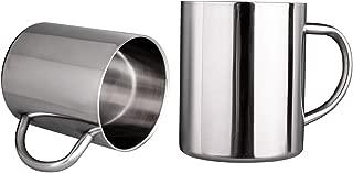IMEEA Coffee Mugs Tea Cups Double Wall Stainless Steel 13.5Oz (400ml), Set of 2