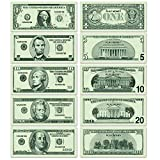 Beistle Large Paper Play Money 200 Piece Casino Party Supplies Western Favors Educational Games, 9' x 4', Green/Light Green