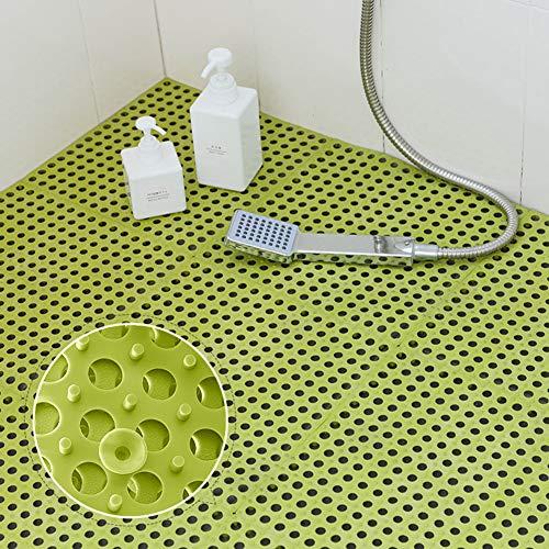QD-SGMP お風呂マット 滑り止めマット 吸盤つき 浴槽マット すのこ 洗い場マット 浴室用床シート 防カビ 介護用 赤ちゃん お年寄り 転倒防止 新型 6枚(グリーン)