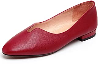 Nine Seven Women's Leather RoundToe Well Flats