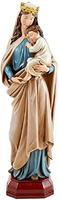 Creative Brands G4078 Mary Queen of Heaven Statue, 24-inch Height, Resin