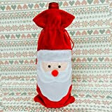 Divertente Abbigliamento di Natale Copertura per Bottiglia di Vino Decorazione Adorabile D...