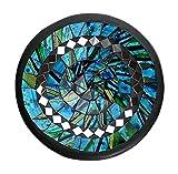 TEMPELWELT Mosaikschale Tonschale rund Ø 15 cm aus Ton mit Glasmosaik blau grün türkis, Dekoschale Mosaikstein belegt, Mosaik Stein Schale Dekoteller Teller - 2