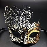 Dorada Flying Butterfly Máscara de metal veneciano Disfraz de fiesta de disfraces Sexy Queen Style / Adecuado para Halloween / Navidad / Carnaval / Mascarada / Fiesta / Carnaval / Decoración de pared