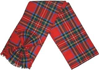 BBI Scottish 100% Wool Tartan Ladies Mini Sash with Rosette - Royal Stewart