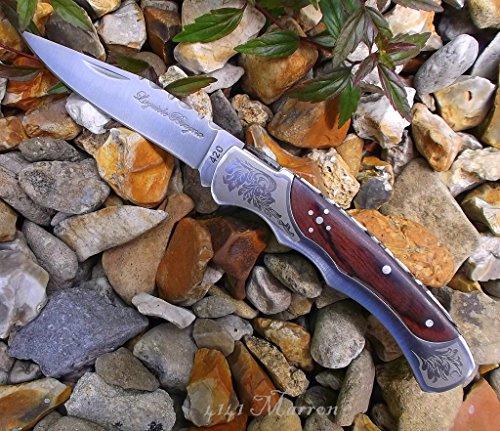 Laguiole Taschenmesser 4141'Baroque' 10cm Blade de mano con Marron Madera.From UK 2–5Work Days