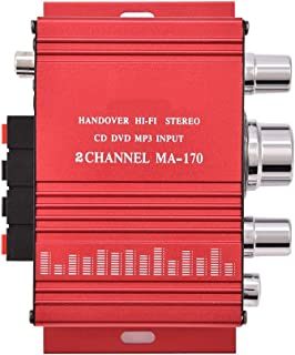 Stereo Power Amplifier, Mini 12V 2 Channel HiFi Stereo Bass Audio Power Amplifier Digital Amp, Audio Component Amplifiers