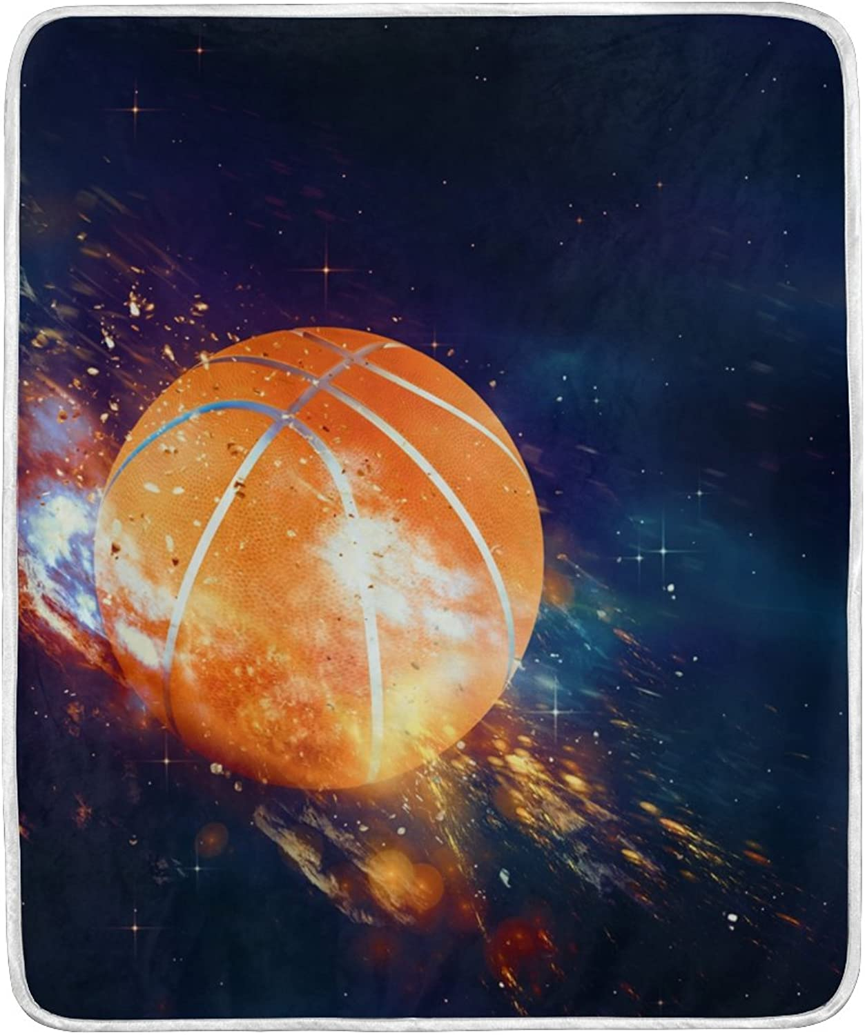 ALIREA Basketball Flies Super Soft Warm Blanket Lightweight Throw Blankets for Bed Couch Sofa Travelling Camping 60 x 50 Inch for Kids Boys Girls