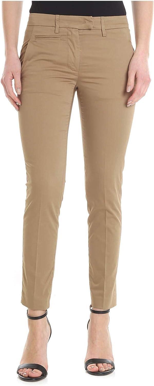 DONDUP Women's DP066RS0986D034 Beige Cotton Pants