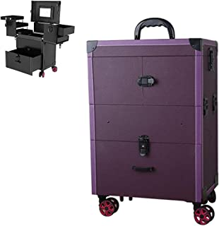 Professional Rolling Makeup Artist Case Portable Multi-Function Large Capacity Travel Makeup Trolley Cosmetic Case