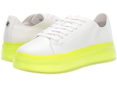 Steve Madden Neo Sneaker (White/Yellow) Women