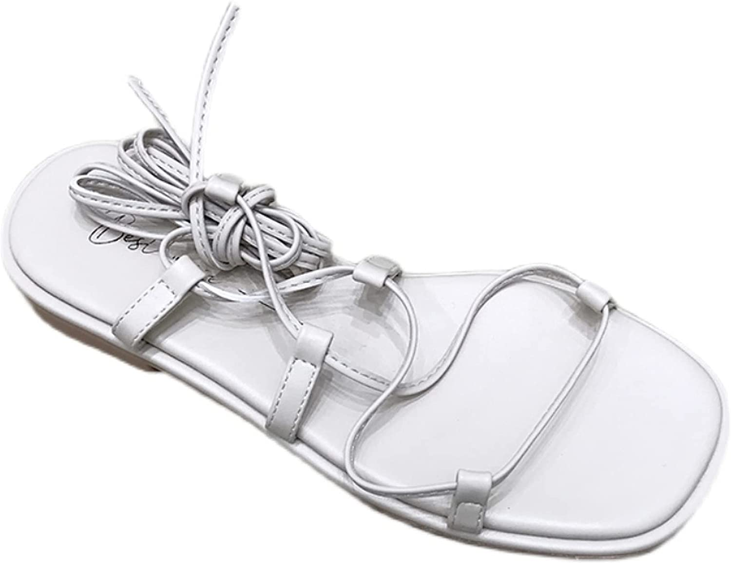 Women's Gladiator Sandals famous Lace Up Cross Shoes Strappy Roman Summ Sale price