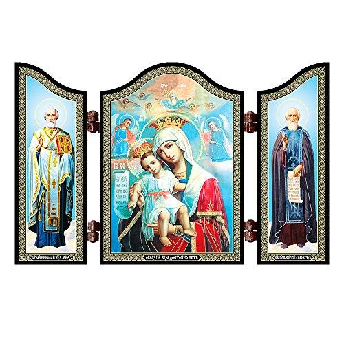 NKlaus 1408 La Madre de Dios digna es el Icono Cristiano Dostojno EST Bogorodicy
