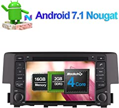 Flynavigo 7 Inch Android 7.1 Quad Core Car Stereo CD DVD Player In Dash Car Radio Head Unit with Bluetooth GPS Navigation for Honda Civic 2016- Support FM AM Mirror Link SD USB 3G WIFI Backup Camera