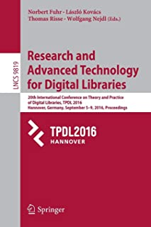 Research and Advanced Technology for Digital Libraries: 20th International Conference on Theory and Practice of Digital Li...