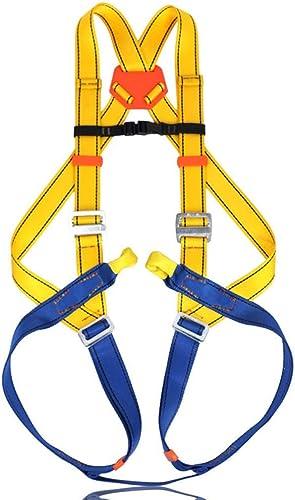 ERSD Harnais Complet Alpinisme Alpinisme extérieur matériel de Travail aérien Travail de Sauvetage Escalade Essentielle Harnais de sécurité sécurité complète du Corps (Couleur   Jaune)