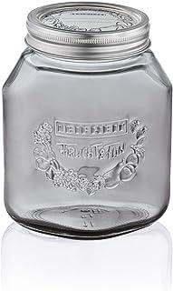 Leifheit 36327 Bocal en verre gris 1L, lot de 3