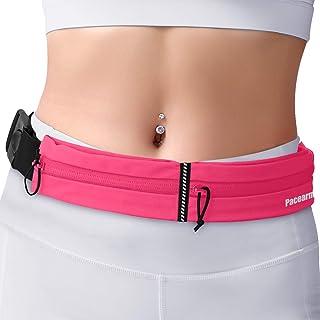 Running Belt for Phone, Water Resistant Runners Belt Waist Pack, Bounce-Free iPhone Running Waist Belt for Women Men, Ultra-Light Adjustable Running Pouch for Sports Gym Workout Jogging