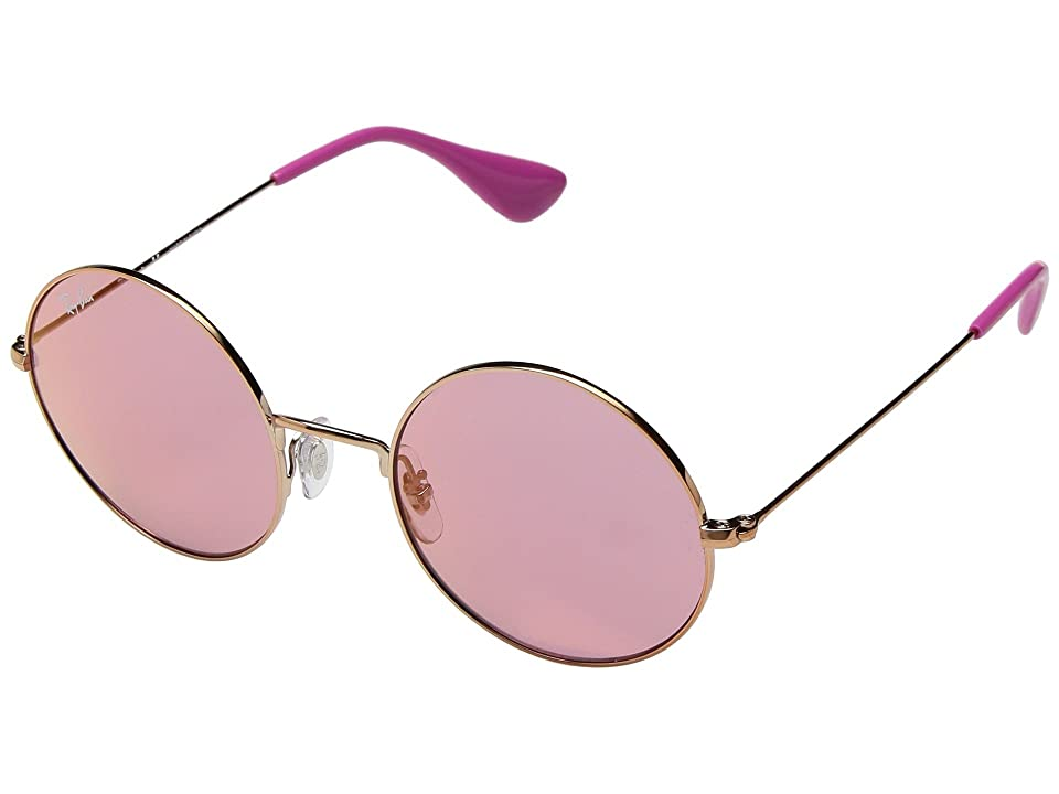 Ray-Ban RB3592 JA-JO 50mm (Shiny Copper/Pink Dark Mirror Red) Fashion Sunglasses