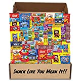 The Snack Shack (60 Count) Salty Sweet Care Package - Quality Snacks Cookies Candy Nuts Popcorn - Assorted Gift Box Treats Sampler Pack For Students Soldiers Inmates Offices - College Essentials Basket