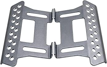 MOHERO Alloy Side Pedal Plates #E for 1:10 Axial SCX10 RC Crawler Car Pack of 2 (Titanium)