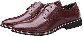Zapatos Formales para Hombre, Elegantes, Puntiagudos, Ligeros, Elegantes, Zapatos Derby, cómodos, Informales, para Oficina...