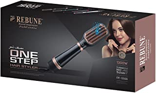 REBUNE The New Hair Styler One-Step Hot Air Stylers, Hair Dryer & Volumizer Styler Hot Air Brush, Negative Ionic Electric ...