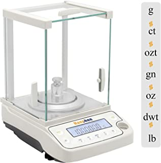Hanchen Analytical Balance 120g/0.1mg Precise Electronic Scale 0.0001g Digital Balance for Jewelry Store Lab Pharmacy Chemical Plant (120g/0.1mg)