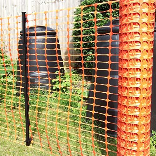 True Products b1003C Standard-Schutznetz aus Kunststoff, Rolle, Orange, 4kg 1m x 50m - 3