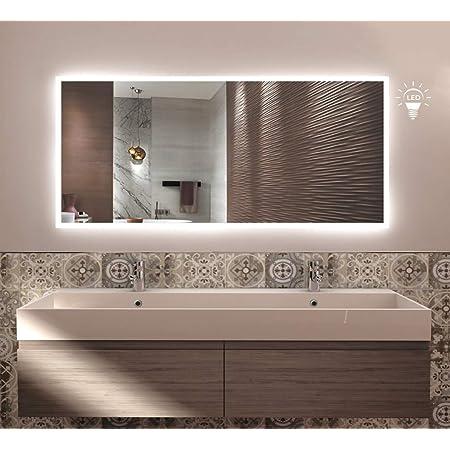 styleglass Specchio Bagno Rettangolare Personalizzabile Babel 60x80cm Specchio Parete Made in Italy Grado di Protezione IP20 Kit Fissaggio Murale Incluso Telaio in PVC e Squadrette in Lamiera