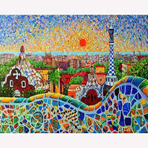 500 Rompecabezas para adultos y niños, Pintura abstracta, Parque de atracciones, Serie Mundial de Edificios, Juegos de Puzzle Infantil, Juguetes educativos, 500 rompecabezas-500
