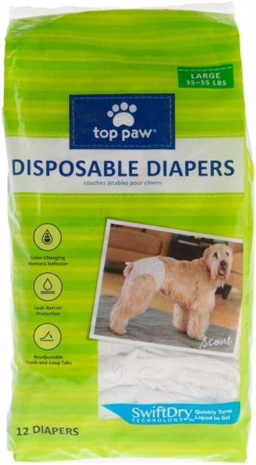 Top depot Paw Disposable Daily bargain sale Dog 12 Pack Diapers -