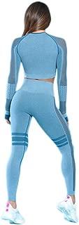 MANON ROSA Workout Sets Women 2 Piece Yoga Legging Crop Top Gym Clothes