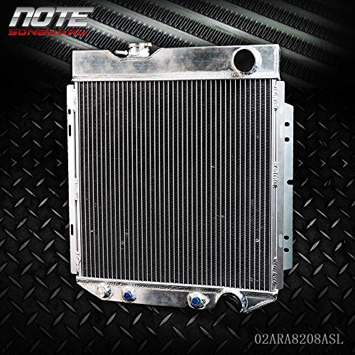 62mm Aluminum Racing Radiator Stop Leak For FORD MUSTANG/SHELBY V8 I6 MT&AT 1964 1965 1966 Silver
