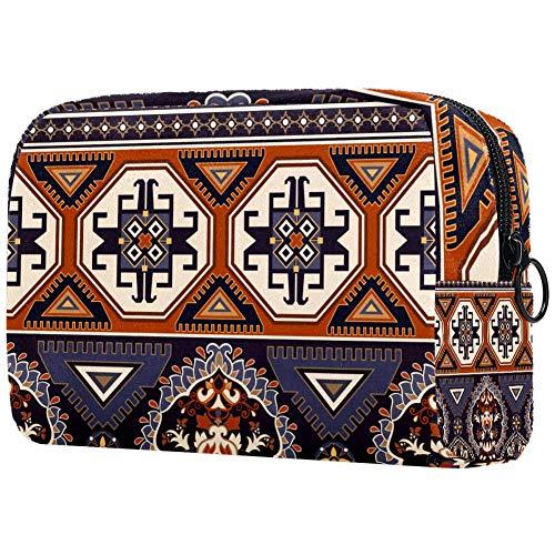 Personalisierbare Make-up-Pinsel-Tasche, tragbare Kulturtasche für Frauen, Handtasche, Kosmetik, Reise-Organizer, dekorative Bordüre