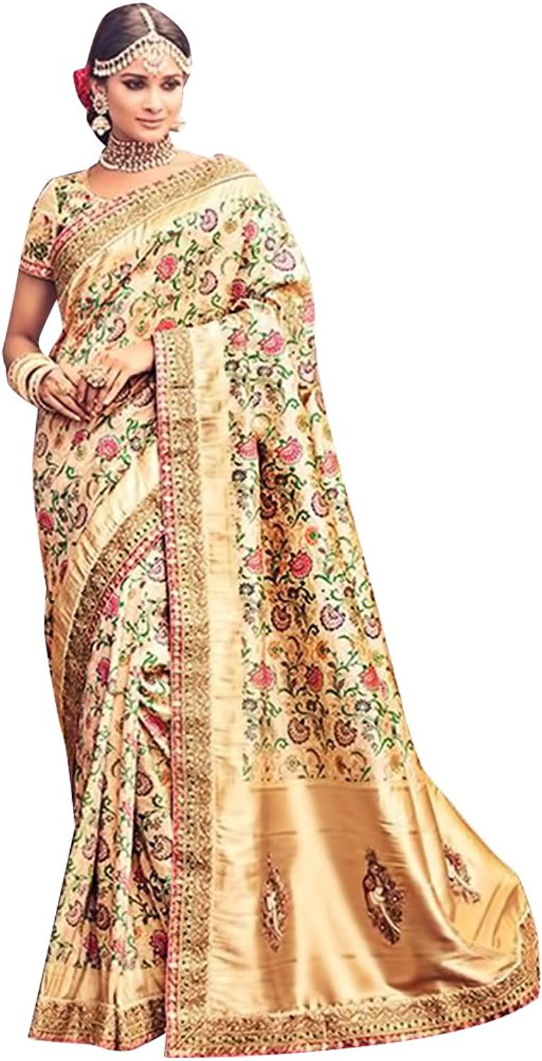 Bridal Silk Saree Sari New Launch Collection Blouse Wedding Party Wear Ceremony Women Muslim eid @9