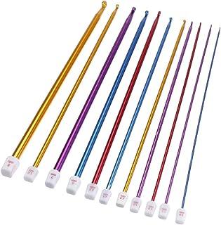 Tinksky Lot de 11 crochets en aluminium de différentes tailles (2 mm à 8 mm)