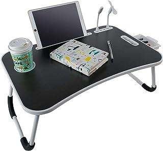 BigTron Bureau pour ordinateur portable, pliable et portable avec porte-gobelet/tiroir de rangement/4 ports USB pour lit/t...