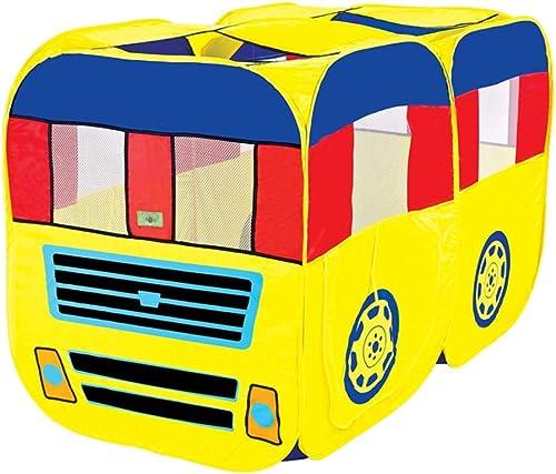 KINGEE-P Kinderspielzelt, Spielplatz Indoor Outdoor Kids Gamehouse Spielzeughütte Easy Fold Spielhaus, Motor Car Design Wendy House