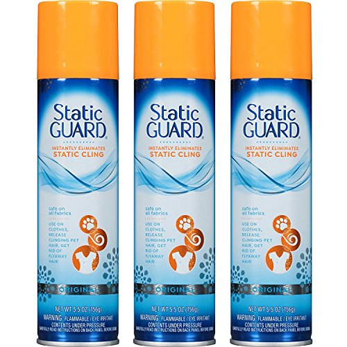 Static Guard Spray-5.5 oz. (Pack of 3), 3 Pack, 16 Ounce