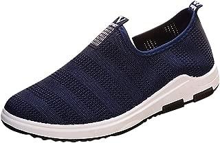 Golike Men's Summer Flying Woven Mesh Casual Flat Non-Slip Wear-Resistant Breathable Sports Comfortable Running 39-44