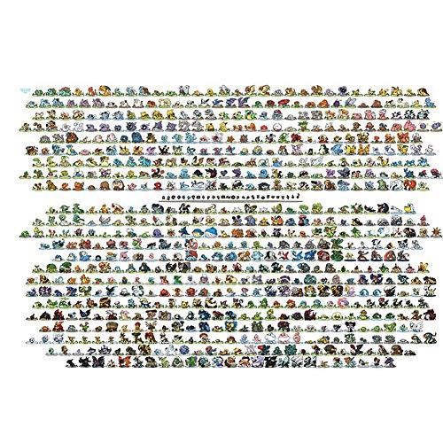 Rowa 80/300/520/1000 Stück Puzzle, Pokemon Puzzle Liga N64 Pikachu Eevee hohe Schwierigkeitsgrad Intelligente Lernspielzeug (Size : 80PC)