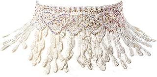 Pipa Lace Choker Necklace, Ivory