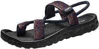 KESEELY Summer Casual Men Sandals Personality Flats Platform Antiskid Non Slip Shoes Leisure Beach Round Tops Sandal