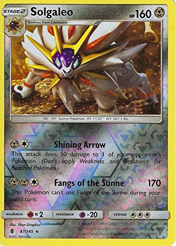 Pokemon Sun & Moon Guardians Rising Solgaleo 87/145 Reverse Holo card