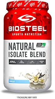 BioSteel Natural Isolate Blend Protein Powder, Grass Fed with Milk Protein, Whey Protein, Egg Protein, Vanilla, 700 Gram