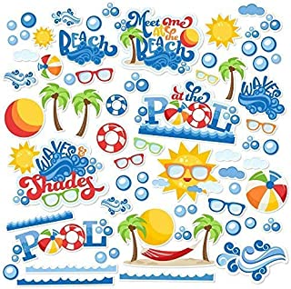 Paper Die Cuts - Summer Basics - Over 60 Cardstock Scrapbook Die Cuts - by Miss Kate Cuttables