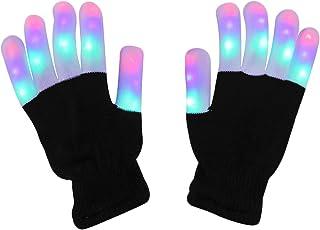 LED Light up Gloves Finger Light Gloves for Kids Adults Glow Rave EDM Gloves Funny Novelty Gifts