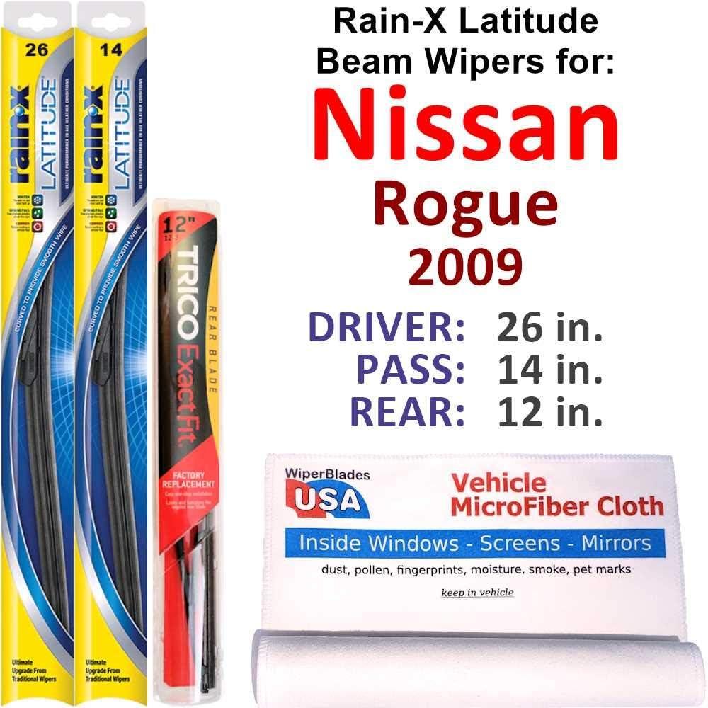 Rain-X Omaha Mall Latitude Max 41% OFF Beam Wipers for 2009 Set Rai w Nissan Rear Rogue