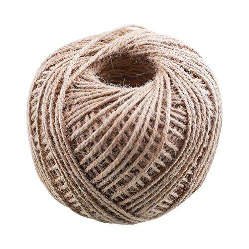 2.0mm 100m de cordón de hilo crema Crafts rústico Natural de colores Mano de cáñamo cuerda de arpillera de cuerda